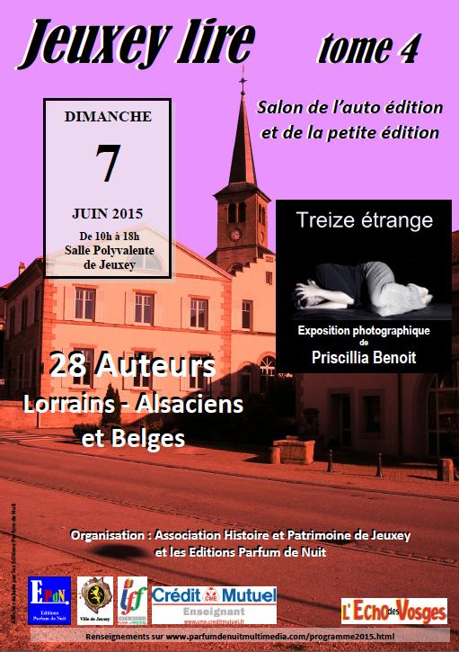 Salon du Livre à Jeuxey le 7 juin 2015