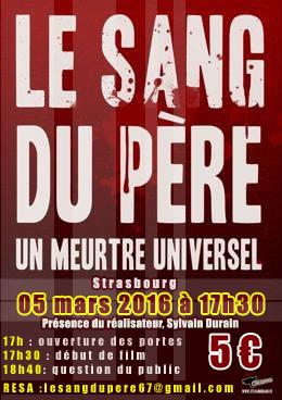 Projection «Le Sang du Père» le 05 mars à Strasbourg