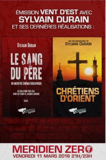 Sylvain Durain «De la mort du Père à la disparition des Chrétiens d'Orient»