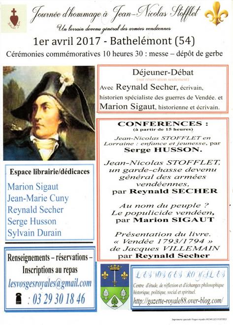 Journée d'hommage à Jean-Nicolas Stofflet