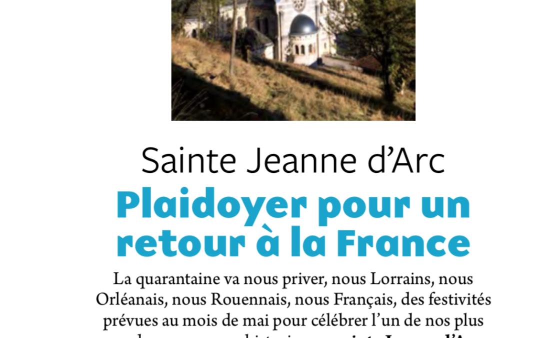 Plaidoyer pour un retour à la France