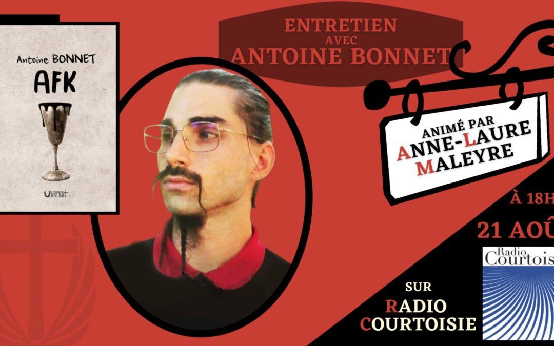 Antoine Bonnet sur Radio Courtoisie pour son roman AFK