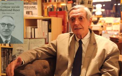 Jacques Carbou sur son livre sur Raymond Ruyer